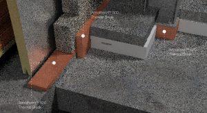 exterior wall thermal break