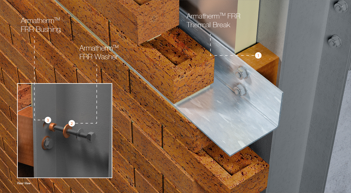 masonry shelf angle thermal break