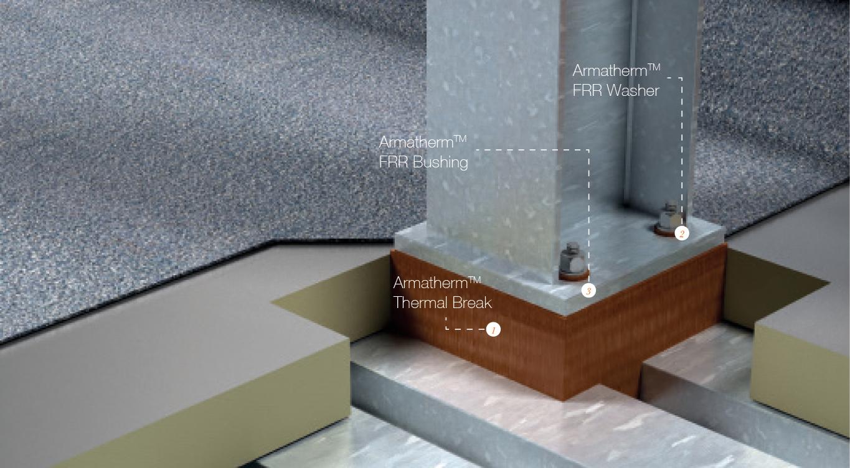 roof penertrations thermal break pads