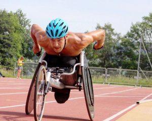 Wheelchair racer Callum Hall