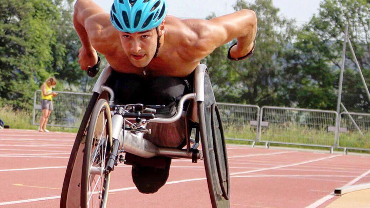 Wheelchair racer Callum Hall